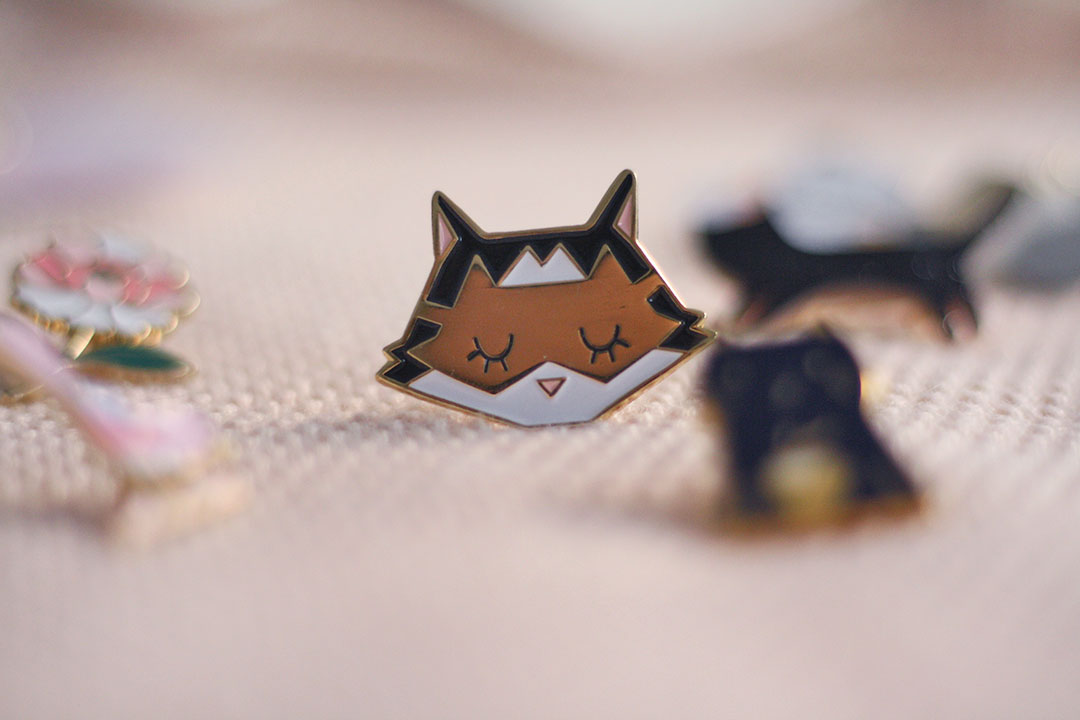 Broche chat l'encrerie marine